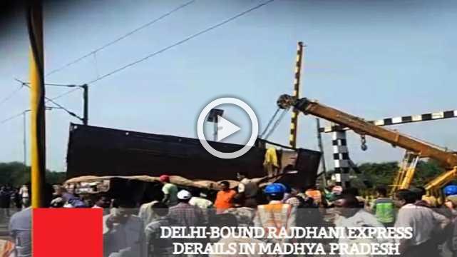 Delhi-Bound Rajdhani Express Derails In Madhya Pradesh