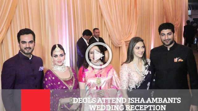 Deols Attend Isha Ambani's Wedding Reception