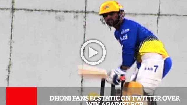 Dhoni Fans Ecstatic On Twitter Over Win Against RCB