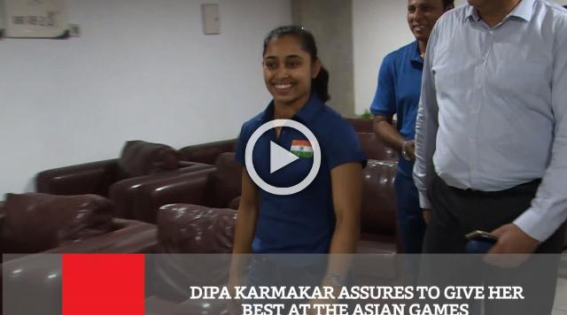 Dipa Karmakar Assures To Give Her Best At The Asian Games
