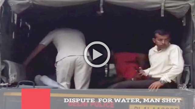 Dispute  For Water, Man Shot