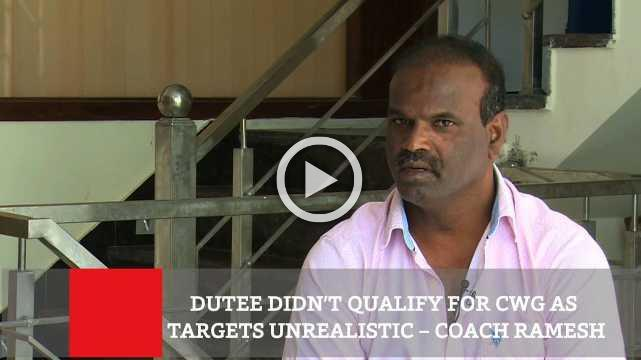 Dutee Didn't Qualify For Cwg As Targets Unrealistic – Coach Ramesh