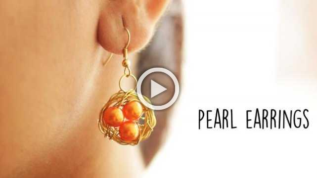 DIY Pearl Earrings