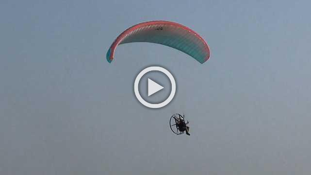 Election Literature & Material Distributed Through Paragliding In Dahod City
