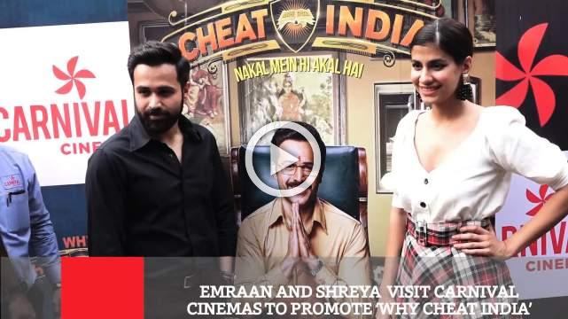 Emraan And Shreya  Visit Carnival Cinemas To Promote 'Why Cheat India'