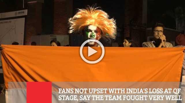 Fans Not Upset With India's Loss At QF Stage, Say The Team Fought Very Well
