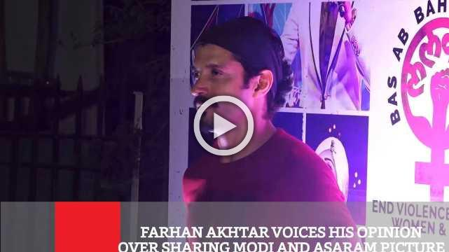 Farhan Akhtar Voices His Opinion Over Sharing Modi And Asaram Picture