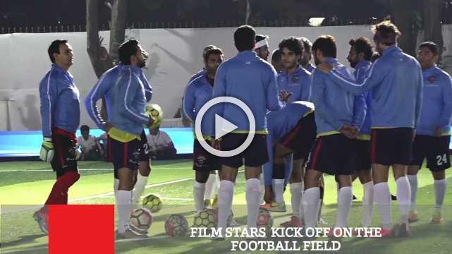 Film Stars  Kick Off On The Football Field