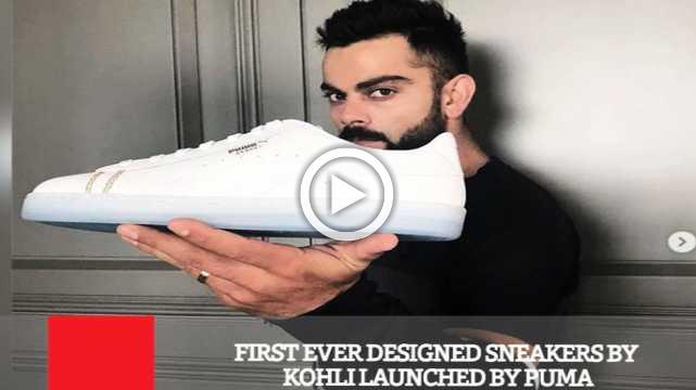 First Ever Designed Sneakers By Kohli Launched By Puma