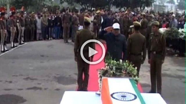 Floral Tributes Paid To The Policeman Killed By Militants