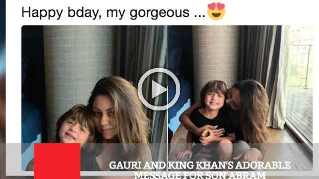 Gauri And King Khan's Adorable Message For Son Abram