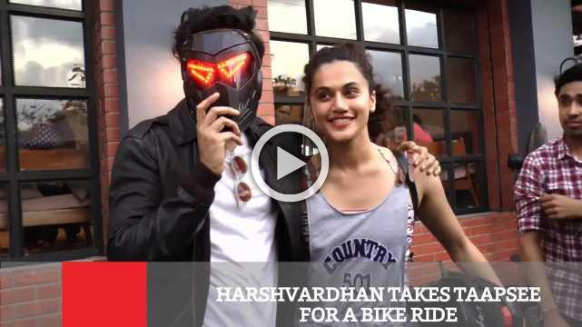 Harshvardhan Takes Taapsee For A Bike Ride