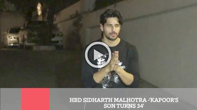 HBD Sidharth Malhotra  'Kapoor's Son Turns 34'