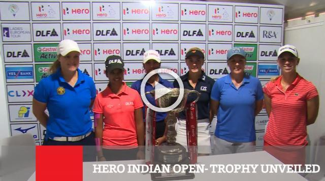 Hero Indian Open  Trophy Unveiled