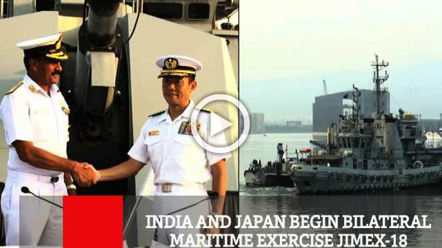 India And Japan Begin Bilateral Maritime Exercise Jimex-18