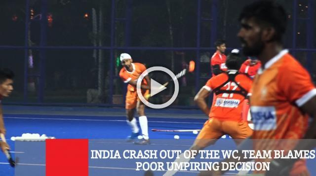 India Crash Out Of The WC, Team Blames Poor Umpiring Decision