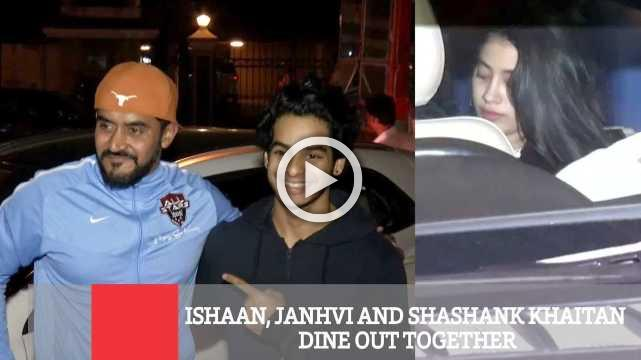 Ishaan, Janhvi And Shashank Khaitan Dine Out Together