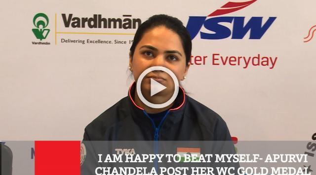 I Am Happy To Beat Myself - Apurvi Chandela Post Her WC Gold Medal