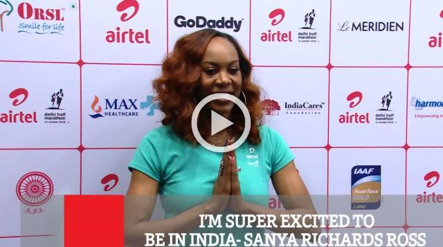 I'M SUPER EXCITED TO BE IN INDIA- SANYA RICHARDS ROSS