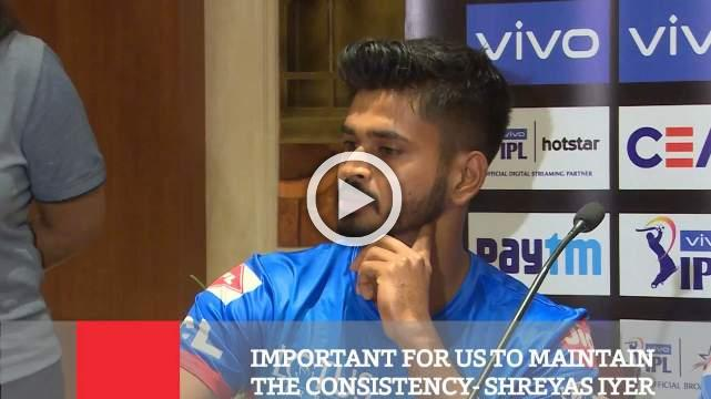 Important For Us To Maintain The Consistency- Shreyas Iyer