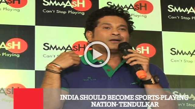 India Should Become Sports Playing Nation : Tendulkar