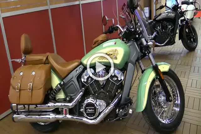 Indian Scout Accessorized Motorcycle Show