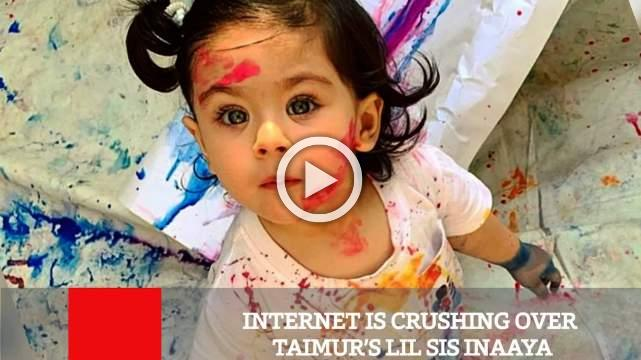 Internet Is Crushing Over Taimur's Lil Sis Inaaya