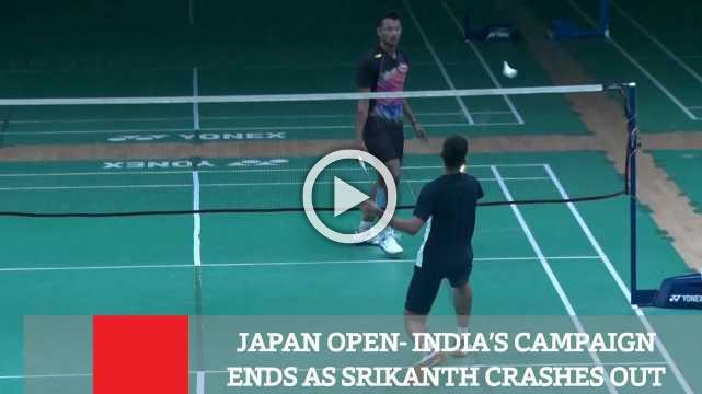 Japan Open- India's Campaign Ends As Srikanth Crashes Out