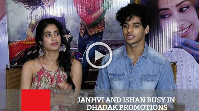Janhvi Ishan And Busy In Dhadak Promotions