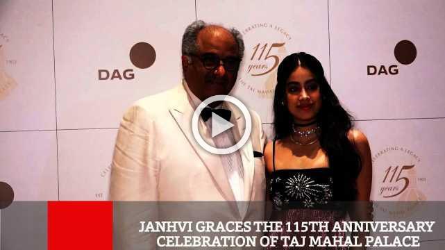 Janhvi Graces The 115th Anniversary Celebration Of Taj Mahal Palace
