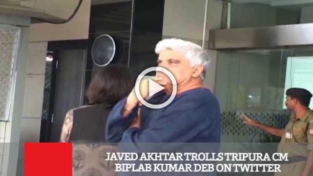 Javed Akhtar Trolls Tripura CM Biplab Kumar Deb On Twitter
