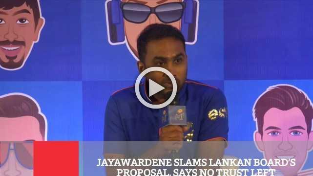 Jayawardene Slams Lankan Board's Proposal, Says No Trust Left