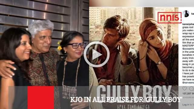 Kjo In All Praise For 'Gully Boy'