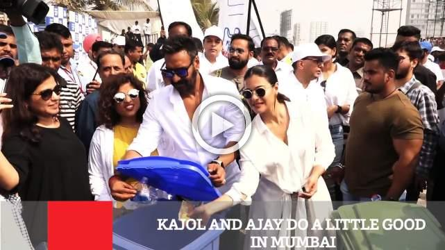 Kajol And Ajay Do A Little Good In Mumbai