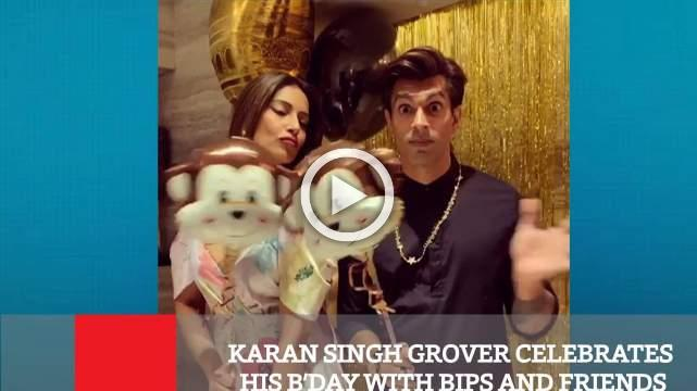 Karan Singh Grover Celebrates His B'day With Bips And Friends