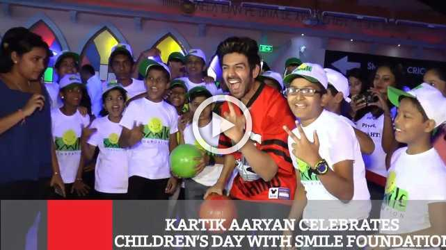 Kartik Aaryan Celebrates Children's Day With Smile Foundation