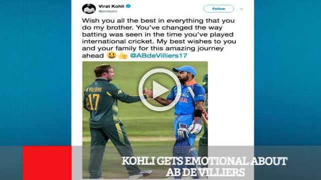 Kohli Gets Emotional About Ab De Villiers