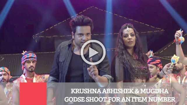 Krushna Abhishek & Mugdha Godse Shoot For An Item Number