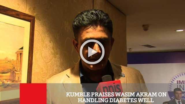 Kumble Praises Wasim Akram On Handling Diabetes Well