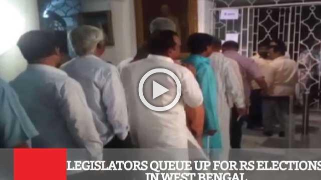 Legislators Queue Up For Rs Elections In West Bengal