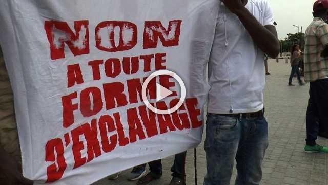 Senegalese in Dakar protest against slavery