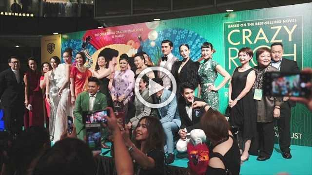 Crazy Rich Asians cast on red carpet for premiere in Singapore