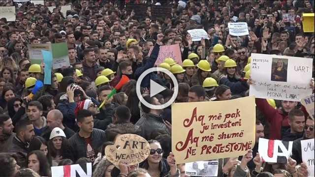 Albanian students protest over tuition costs