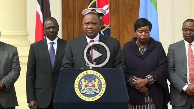 Kenyan president says Nairobi attackers 'eliminated'
