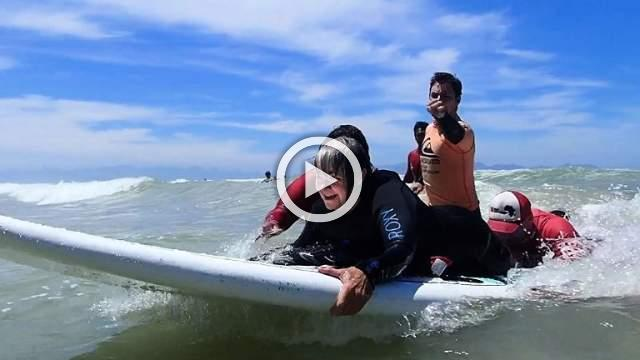 South Africans with disabilities take to the waves