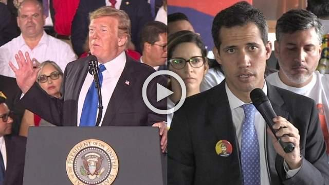 Trump tells Venezuela military to back Guaido
