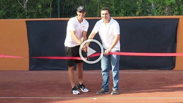 Rafael Nadal opens tennis academy in Mexico