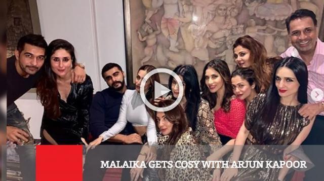 Malaika Gets Cosy With Arjun Kapoor
