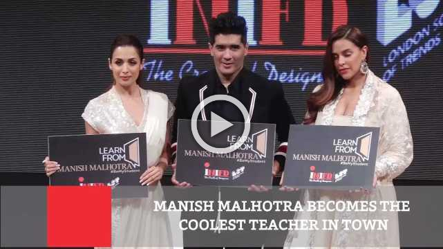 Manish Malhotra Becomes The Coolest Teacher In Town