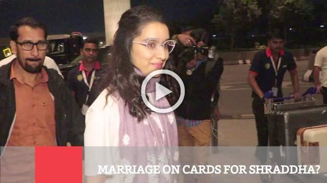 Marriage On Cards For Shraddha ?